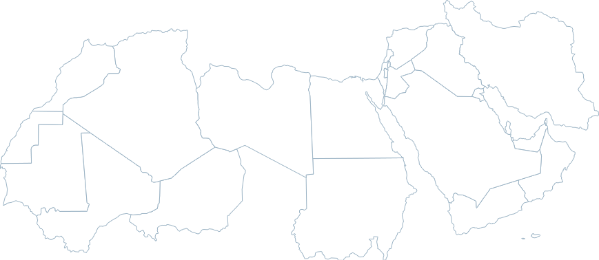 Middle East North Africa - North africa map